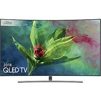 Samsung QE65Q8CN (2018) Curved QLED HDR 1500 4K Ultra HD Smart TV, 65 with TVPlus/Freesat HD & 360 Design, Ultra HD Premium Certified, Silver