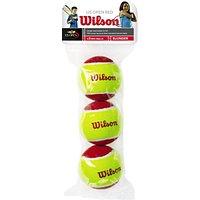 Wilson Starter Red Tennis Balls, Pack of 3, Red/Yellow