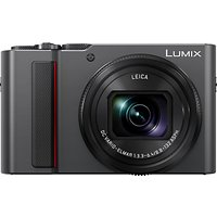 Panasonic Lumix DC-TZ200EB Digital Camera, 4K Ultra HD, 20.1MP, 15x Optical Zoom, Wi-Fi, EVF, 3 LCD Touch Screen, Black