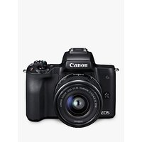 Canon EOS M50 Compact System Camera with EF-M 15-45mm f/3.5-6.3 IS STM lens, 4K Ultra HD, 24.1MP, Wi-Fi, Bluetooth, NFC, OLED EVF, 3 Vari-Angle Touch Screen