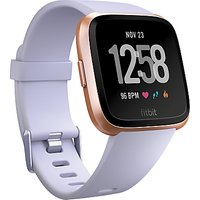 Fitbit Versa Smart Fitness Watch, Periwinkle/Rose Gold