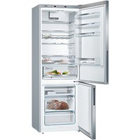 Bosch KGE49VI4AG Freestanding Fridge Freezer, A+++ Energy Rating, 70cm Wide, Silver