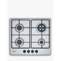 Neff T26BB56N0 Gas Hob, Stainless Steel