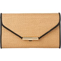L.K.Bennett Sissi Leather Clutch Bag, Soft Gold