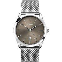 Sekonda 1587.27 Men's Date Mesh Bracelet Strap Watch, Silver/Grey