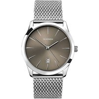 Sekonda 1587.27 Mens Date Mesh Bracelet Strap Watch, Silver/Grey
