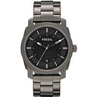 Fossil FS4774 Mens Machine Date Bracelet Strap Watch, Gunmetal/Black
