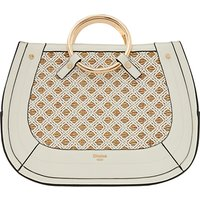 Dune Dorseey Large Ring Handle Tote Bag, White