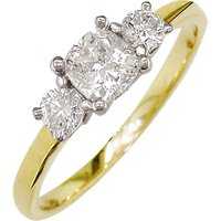 shop for E.W Adams 18ct Yellow Gold and Platinum 3 Diamond Ring, 0.48ct at Shopo