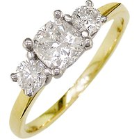shop for E.W Adams 18ct Yellow Gold and Platinum 3 Diamond Engagement Ring, 0.75ct at Shopo