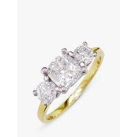 EWA 18ct Yellow Gold and Platinum 3 Diamond Engagement Ring, 0.75ct