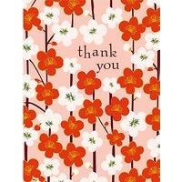 Caroline Gardner Kimono Floral Thank You Notecards, Pack of 10