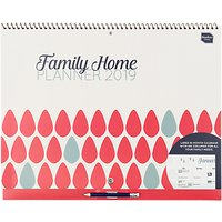 Boxclever Press 2019 Family Home Planner Calendar