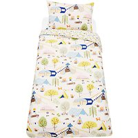 little home at John Lewis Camping Reversible Duvet Cover and Pillowcase Set, Single, Multi