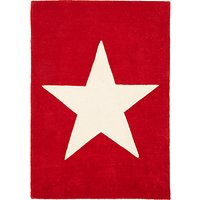 image-little home at John Lewis Star Children's Rug, Red, L100 x W70cm