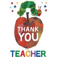 Woodmansterne Thank You Teacher Card at John Lewis Department Store