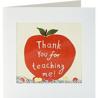 James Ellis Thank You Teacher Shakies Card at John Lewis Department Store