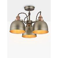 John Lewis & Partners Baldwin Semi Flush 3 Arm Ceiling Light