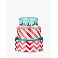 John Lewis Novelty Cake Piece Of Cake Tin Set, Set of 3