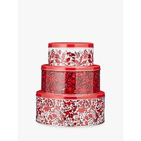 John Lewis Ruby Cake Piece Of Cake Tin Set, Set of 3
