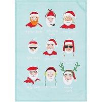 John Lewis & Partners Novelty Santa Tea Towel