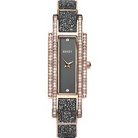 Sekonda 2585.37 Women's Seksy Swarovski Crystal Bracelet Strap Watch, Rose Gold/Grey