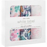 Aden + Anais White Label Silky Soft Swaddle Blankets, Pack of 3, Multi