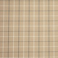 John Lewis William Check Fabric, Latte, Price Band B