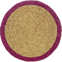 Gone Rural Woven Grass Round Edge Placemat, Dia.28cm