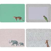 Yvonne Ellen Animal Placemats, Set of 4, Assorted