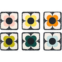 Orla Kiely Scribble Square Flower Coasters, Set of 6, Assorted