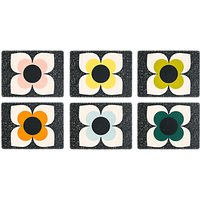 Orla Kiely Scribble Square Flower Placemats, Set of 6, Assorted