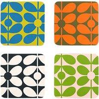 Orla Kiely 60s Flower Stem Coasters, Set of 4, Assorted