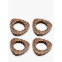 John Lewis and Partners Hammered Napkin Rings, Set of 4, Copper