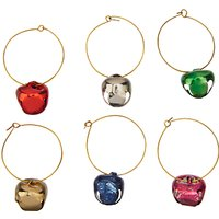 John Lewis & Partners Bell Wine Charms, Assorted, Set of 6