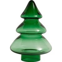 Nordal Glass Decorative Christmas Tree, Green, Small