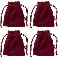 John Lewis & Partners Ruby Velvet Cutlery Bags, Red, Set of 4