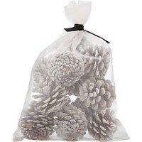 John Lewis & Partners Moonstone Bag Of Pinecones, White