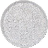 John Lewis & Partners Embossed Round Serving Platter, 33cm, White