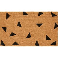 House by John Lewis Triangle Door Mat, 40x60, Natural