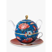 Wedgwood Paeonia Blush Tea for One Teapot, 450ml, Blue/Red