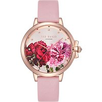 Ted Baker TE50267011 Women's Ruth Leather Strap Watch, Blush/Multi