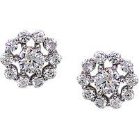 CARAT* London Sterling Silver Flora Stud Earrings, Silver