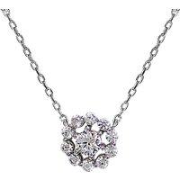 CARAT* London Sterling Silver Flora Pendant Necklace, Silver