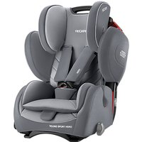 Recaro Young Sport Hero Group 1/2/3 Car Seat, Aluminium Grey