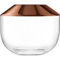 LSA International Space Rose Bowl Vase, Copper
