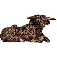 Frith Sculpture Highland Bull At Rest by Veronica Ballan, Bronze