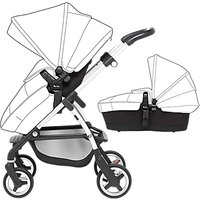 Silver Cross Wayfarer Pushchair Seat, Chassis and Carrycot, Onyx
