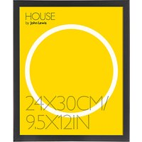 House by John Lewis MDF Wrap Picture Frame, 24 x 30cm (9.5 x 12), Black