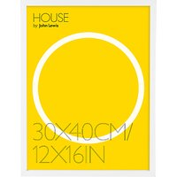 House by John Lewis MDF Wrap Picture Frame, 12 x 16 (30 x 40cm)